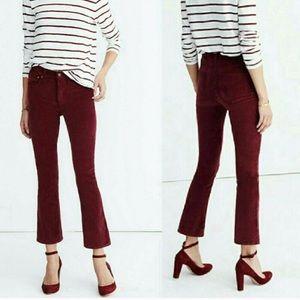 Madewell Cami Demi Boot Jeans in Velvet